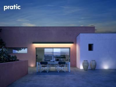 Napellenző zárt állapotban - erkély / terasz ötlet