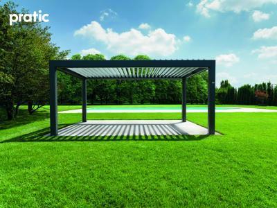 Pergola árnyékolóval - kert / udvar ötlet, modern stílusban