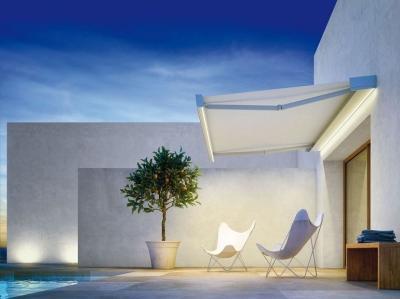 Fehér árnyékoló - erkély / terasz ötlet