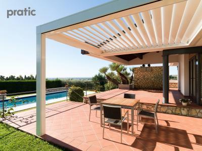 Pergola - erkély / terasz ötlet, modern stílusban
