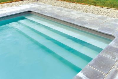 Kényelmes medence lépcső - medence / jakuzzi ötlet, modern stílusban