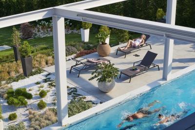 Úszómedence a teraszon - medence / jakuzzi ötlet, modern stílusban