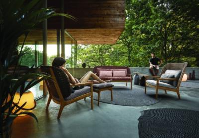 Kényelmes kerti karosszékek - erkély / terasz ötlet, modern stílusban