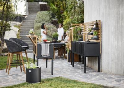 Látványos nyárikonyha - kert / udvar ötlet, modern stílusban