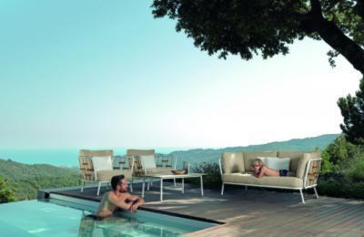Elegáns kerti garnitúra - erkély / terasz ötlet, modern stílusban