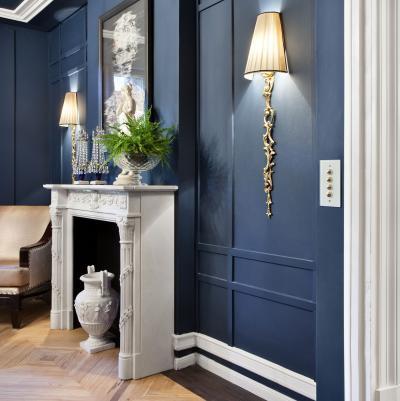 Különleges villanykapcsoló - nappali ötlet, klasszikus stílusban