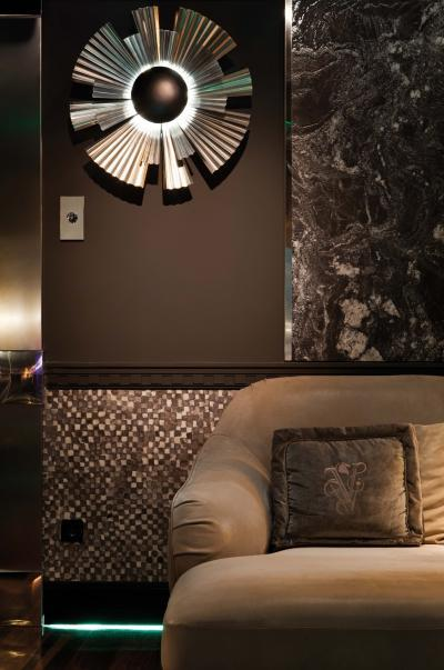 Fekete konnektor - nappali ötlet, modern stílusban