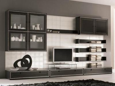 Ezüsthatás - nappali ötlet, modern stílusban