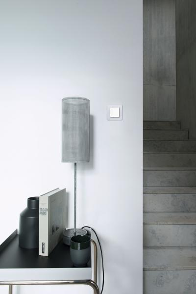 Világos tónusú kapcsoló - előszoba ötlet, modern stílusban