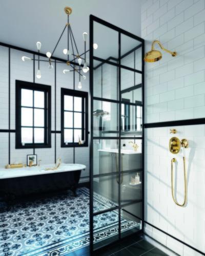 Klasszikus zuhany - fürdő / WC ötlet, klasszikus stílusban