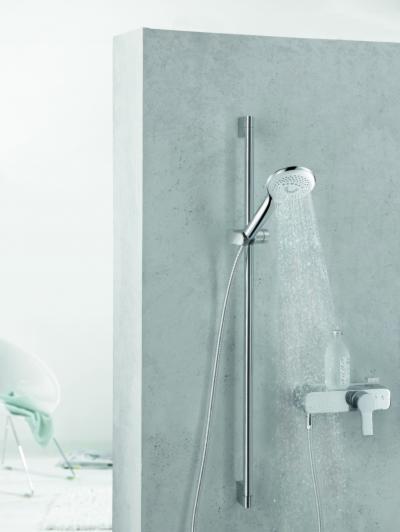 Zuhany egykaros csapteleppel - fürdő / WC ötlet, modern stílusban