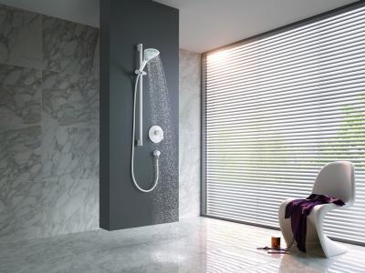 Minimalista zuhany - fürdő / WC ötlet, modern stílusban
