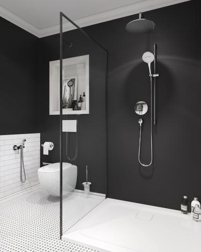 Egykaros zuhany csap és esőztető - fürdő / WC ötlet