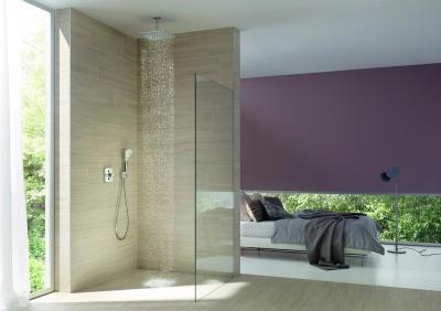 Minimál stílusú zuhany - fürdő / WC ötlet