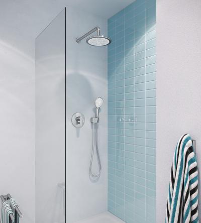 Fej- és kézizuhany - fürdő / WC ötlet, modern stílusban