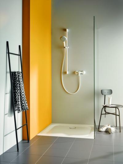Fehér zuhany - fürdő / WC ötlet, modern stílusban