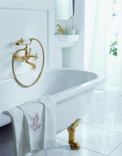 Klasszikus csaptelep és zuhany - fürdő / WC ötlet, klasszikus stílusban