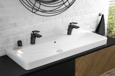 Fekete mosdó csaptelep - fürdő / WC ötlet
