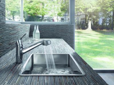 Egykaros konyhai csaptelep - konyha / étkező ötlet, modern stílusban