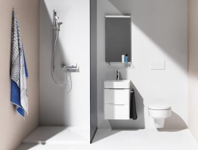 Praktikus kicsi fürdőszoba - fürdő / WC ötlet