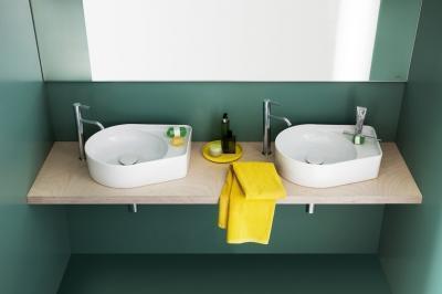 Szokatlan formájú mosdó - fürdő / WC ötlet