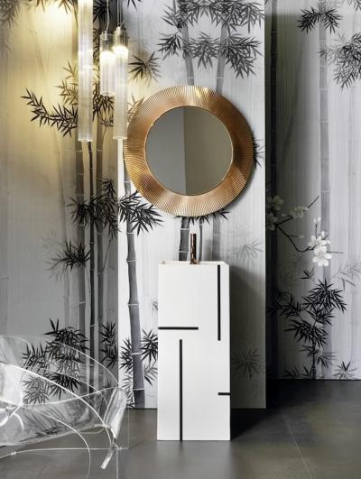 Látványos mosdó - fürdő / WC ötlet, modern stílusban