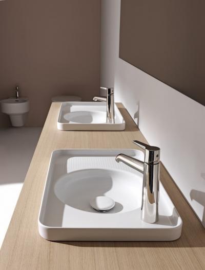 Tálcaszerű mosdó - fürdő / WC ötlet, modern stílusban