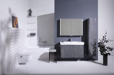 Modern szaniterek egy modern fürdőben - fürdő / WC ötlet, modern stílusban