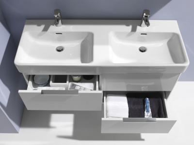 Dupla mosdó - fürdő / WC ötlet, modern stílusban