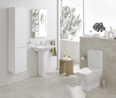 Fehér szaniterek - fürdő / WC ötlet, modern stílusban