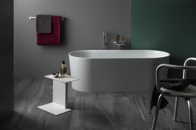 Szabadon álló kád - fürdő / WC ötlet, minimál stílusban