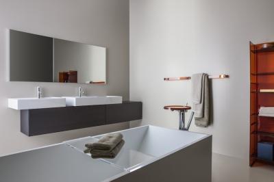 Szögletes szaniterek - fürdő / WC ötlet