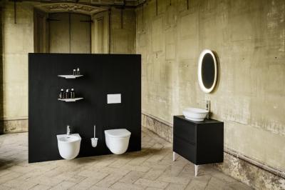 Fekete fehér fürdő - fürdő / WC ötlet, klasszikus stílusban