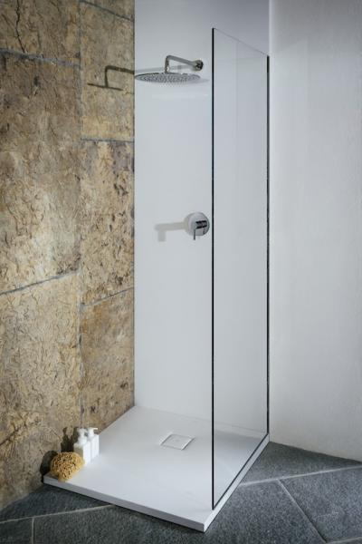 Rusztikus és minimál zuhanyzó - fürdő / WC ötlet