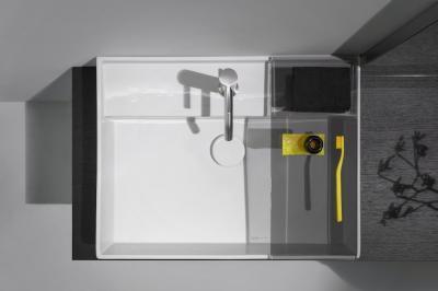 Szögletes mosdó - fürdő / WC ötlet