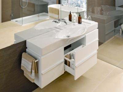Nagyméretű mosdó - fürdő / WC ötlet, modern stílusban