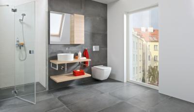 Modern fürdő szürkében - fürdő / WC ötlet, modern stílusban