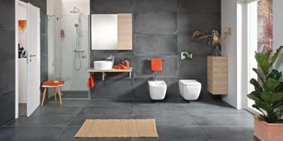 Fehér szaniterek a fürdőszobában - fürdő / WC ötlet, modern stílusban