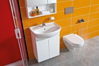 Színes fürdőszoba - fürdő / WC ötlet, modern stílusban