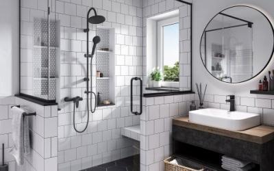 Fekete csaptelepek - fürdő / WC ötlet, modern stílusban