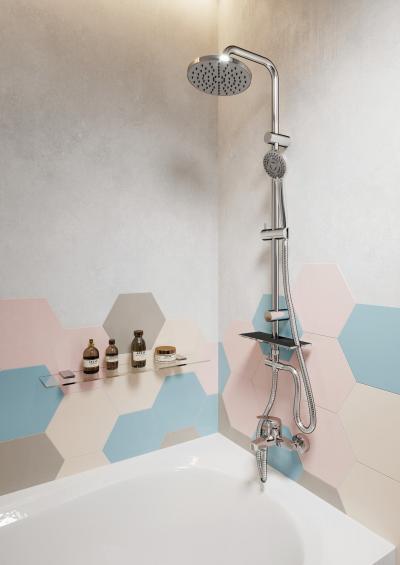 Kompakt csaptelep kádhoz - fürdő / WC ötlet, modern stílusban