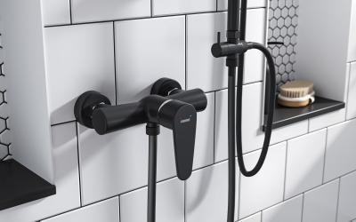 Fekete csaptelep - fürdő / WC ötlet, modern stílusban