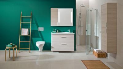Kényelmes fürdőszoba - fürdő / WC ötlet, modern stílusban