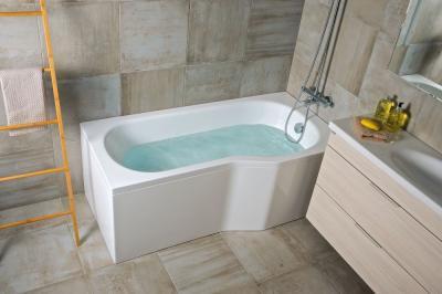 Kényelmes fürdőkád - fürdő / WC ötlet, modern stílusban
