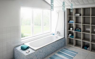 Polc a fürdőben - fürdő / WC ötlet, modern stílusban