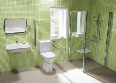 Akadálymentesített fürdőszoba - fürdő / WC ötlet, modern stílusban