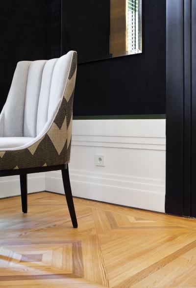 Fehér konnektor - nappali ötlet