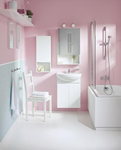 Fehér szaniterek és fürdőszoba bútorok - fürdő / WC ötlet, modern stílusban