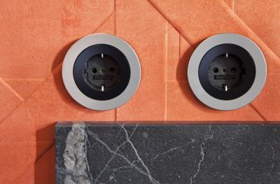 Kerek konnektor - nappali ötlet, modern stílusban