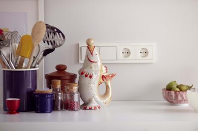 Kapcsoló és konnektor - konyha / étkező ötlet, modern stílusban